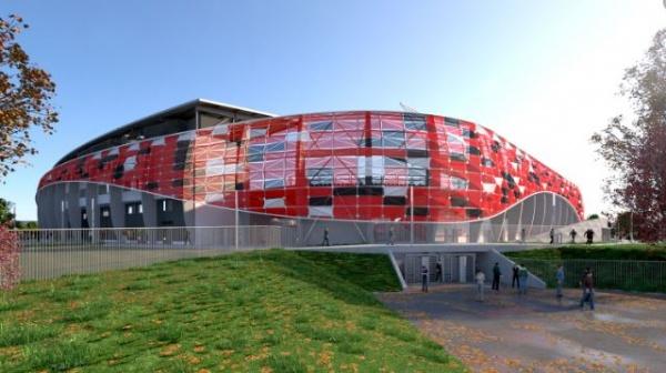 Herstellung von  Außenfassadenelemente für Bozsik-Stadion